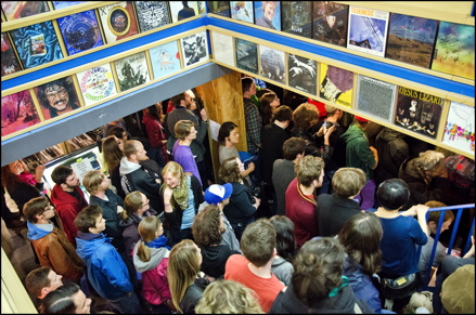 Fans jam into Sonic Boom on Record Store Day