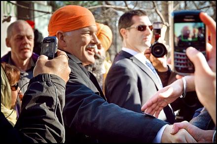 Jack Layton at Khalsa Day 2011
