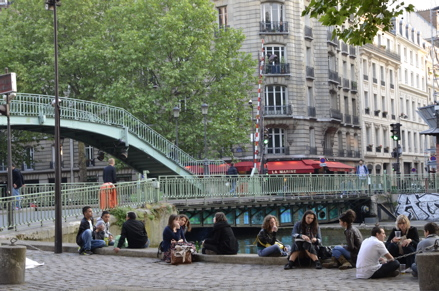 Canal Saint Martin in Paris