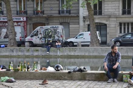 Quai Canal Saint Martin in Paris