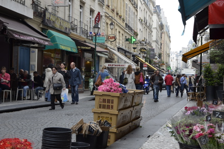 The Marais area in Paris