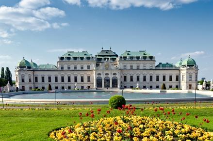 Exterior of Belvedere Museum in Vienna
