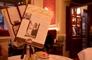 Cafe Sacher menu in Vienna
