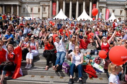 Canada Day 2011 in Trafalgar Square