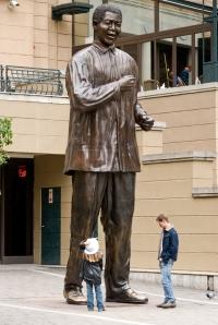 Nelson Mandela statue in Sandton