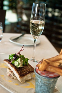 Pickerel Filet and a glass of bubbly at Hillebrand Winery. (Julia Pelish photo)