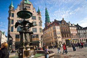 The Stroget in Copenhagen
